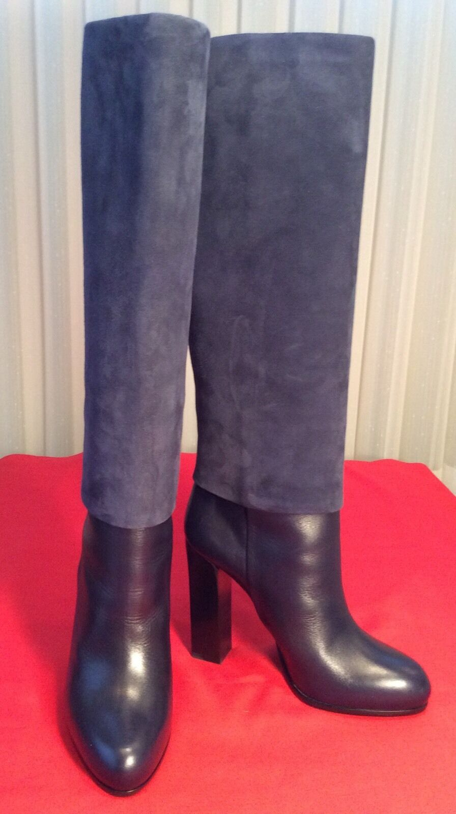 New And Authentic Christian Dior Suede And Leather Stiefel 38 1 2