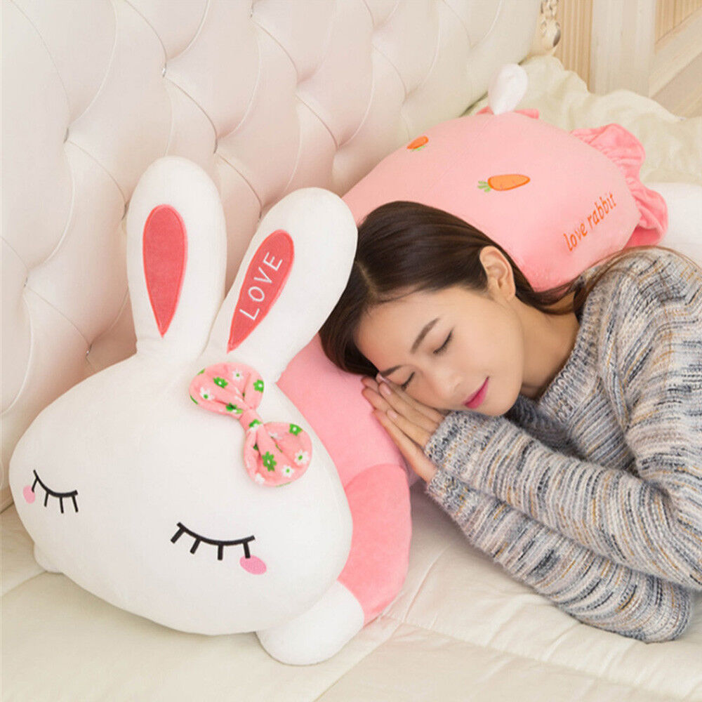 Giant Soft Plush Bunny Pillow Toys Big Stuffed Animals Pink Rabbit Doll for Kid