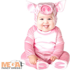 Image is loading Little-Piggy-Baby-0-24-Months-Fancy-Dress-  sc 1 st  eBay & Little Piggy Baby 0-24 Months Fancy Dress Animal Farm Pig Toddler ...