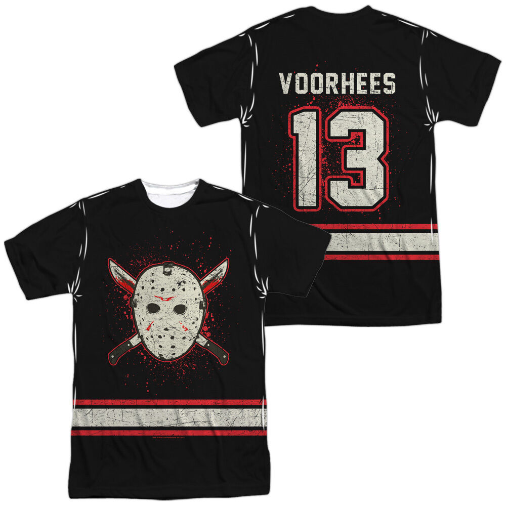 FRIDAY THE 13TH VOORHEES JERSEY Sublimation Licensed Men's Tee Shirt SM-3XL