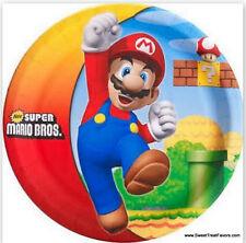 MARIO BROS Plates LUNCH Birthday Decoration Game Party Supplies Luigi Nintendo