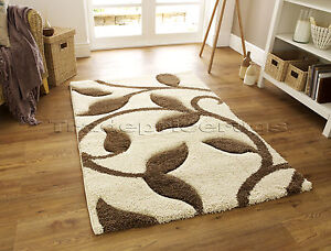 MED-EXTRA-LARGE-THICK-DEEP-PILE-SHAGGY-SOFT-CREAM-IVORY-WHITE-BEIGE-BROWN-RUG