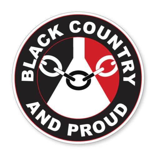 Flag Car Van Lorry vinyl Self Adhesive stickers 2 x BLACK COUNTRY AND PROUD