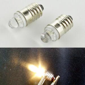 3pcs lamp led bulb 12v volt warm white mes e10 1447 screw for torch