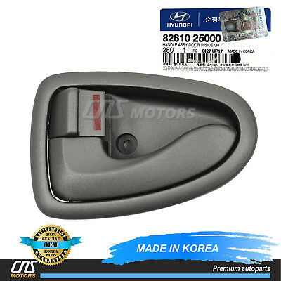 Door Handle Gray Front or Rear Inside Inner Driver Side Left LH for 00-06 Accent