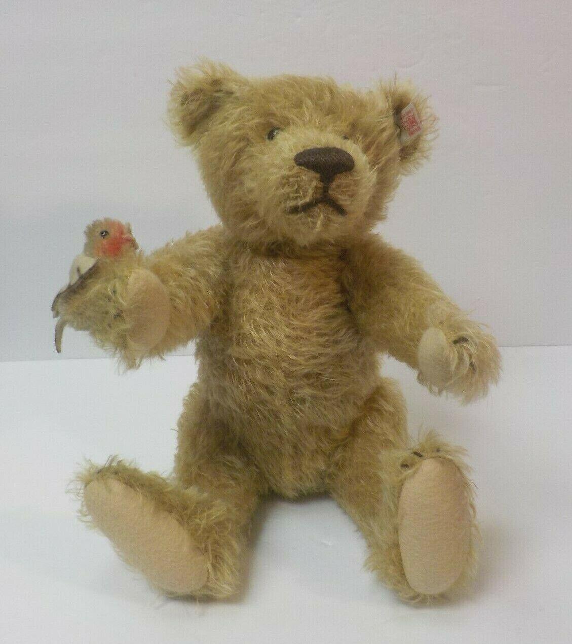 Steiff 2006 Ltd. Edition Mohair Romance Bear  766 2006, Bird on Arm