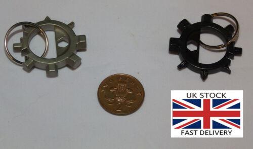 Bicycle EDC EN ACIER INOXYDABLE Outils Multifonction Porte-clés-UK Stock