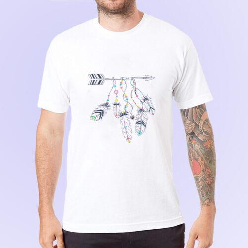 Mens Print Summer Short Sleeve Casual Slim Fit Shirts T-Shirt Follow Your Dream