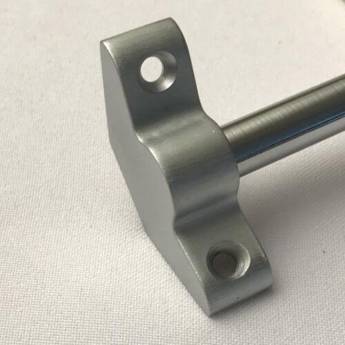 PLAIN BRACKET SATIN CHROME STAIR RODS 3//8 x 28.5 INCH SET OF 13 R13PB