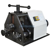 110 Volt Electric Ring Roller Tube Pipe Bender Round Square Flat - 1596 Rpm