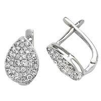 9 Carat White Gold Diamond Leverback Earrings 0.50ctw
