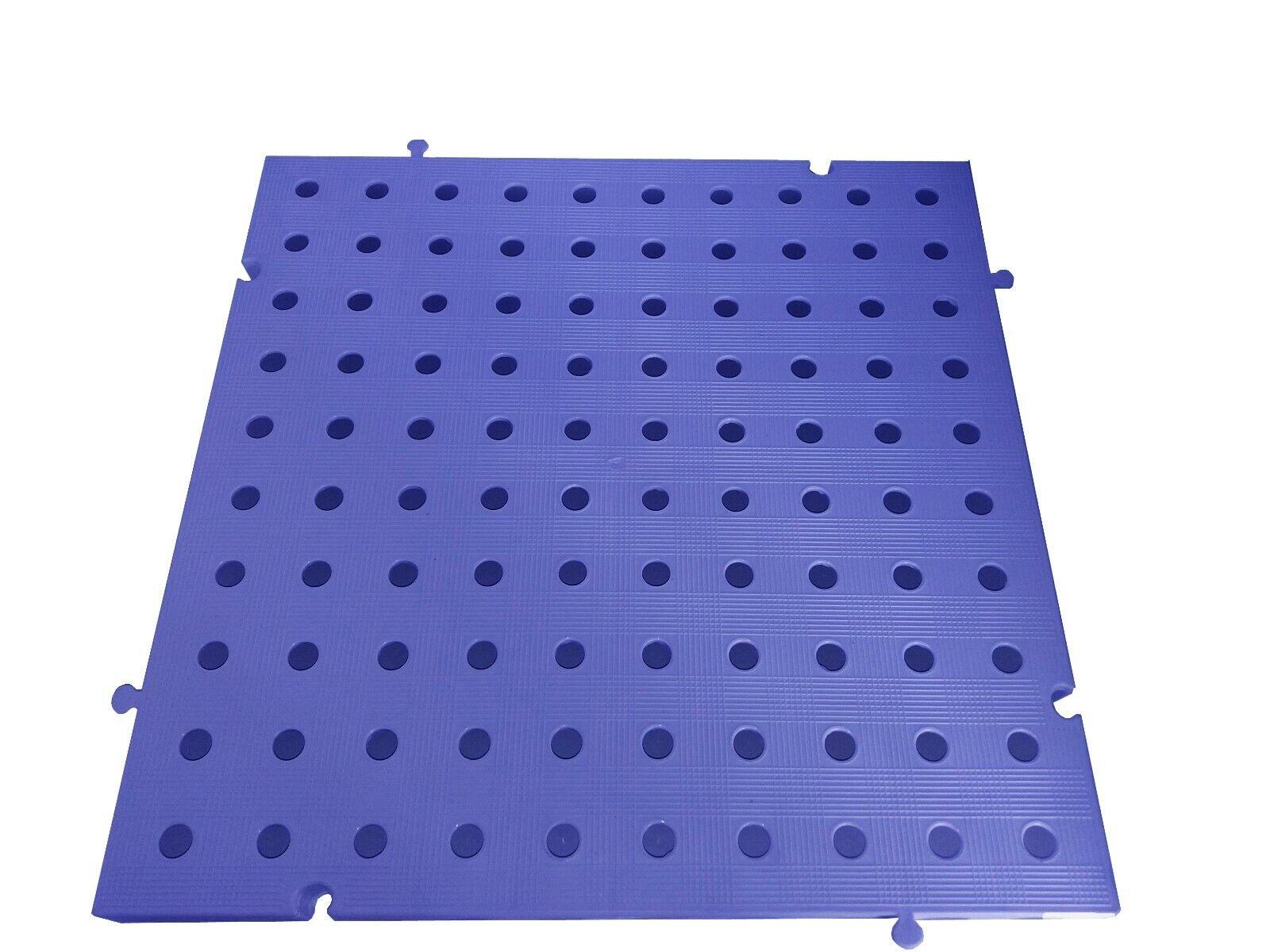 s l1600 - Náyade® Block Losa Tarima Goma desmontable 50x50x2,5 cm. Con Orificios. Azul