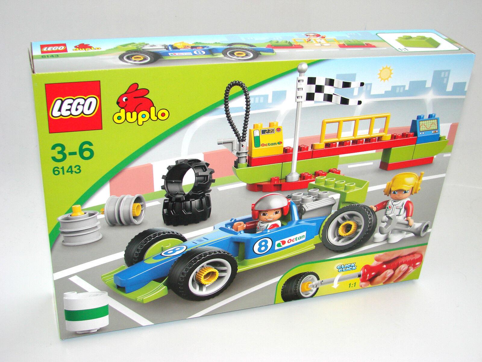 LEGO ® DUPLO 6143 rennfahrzeug NUOVO OVP _ RACING TEAM NEW MISB NRFB