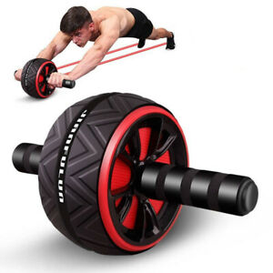 ABS-Abdominal-Exercise-Wheel-Gym-Fitness-Body-Strength-Training-Roller