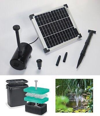 10 W Solar Teichpumpe Solarpumpe Teichfilter Pumpe Gartenteich Filter Teich NEU