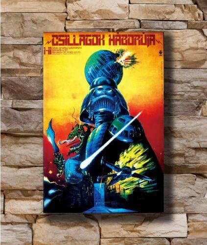 Hot STAR WARS Hungarian Movie Darth Vader Jedi Empire Skywalker Art Poster T1574
