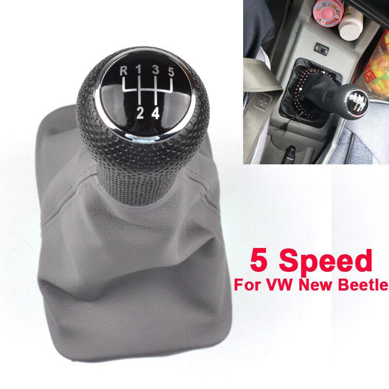 SCHALTSACK SCHALTMANSCHETTE passt für VW New Beetle Naht Schwarz SCHALTKNAUF