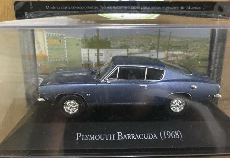 1 43 Plymouth Barracuda 1968 Ixo Altaya  NEW EXC HTF