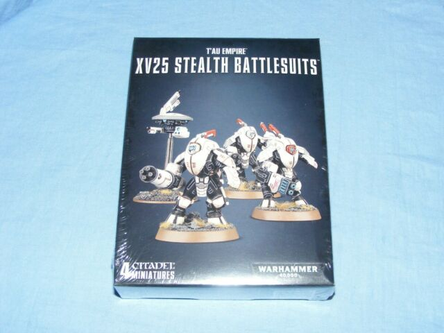 Unused Games Workshop Warhammer 40k Tau Empire XV25 Stealth Battlesuits