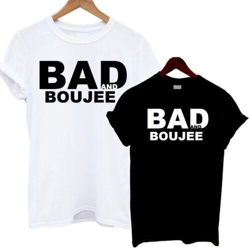 Bad and Boujee T Shirt Hip Hop Tee Fashion Rap Rapper Raindrops Droptops Top Hit