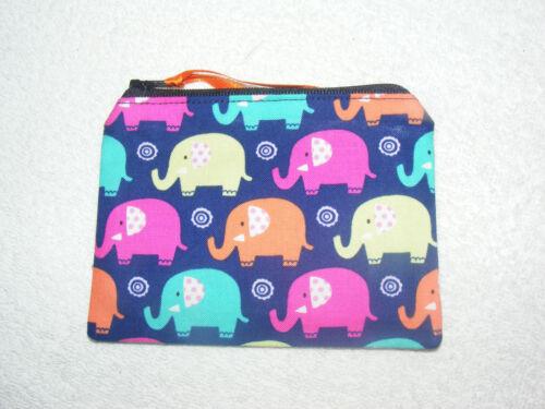 Mini Elephants Fabric Handmade Coin Purse