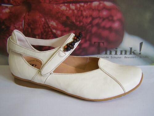 Schuh Modell Chilli in Bianco mit Klett Frühjahr Sommer Think