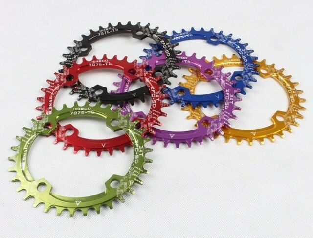 MTB Single Narrow Wide Oval Chainring Chain Ring BCD 96/104mm 32 34 36 38 40 42T