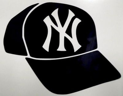 NEW YORK YANKEES PINISHER NY SKULL VINYL DECAL CHOOSE SIZE and COLOR MADE IN USA
