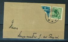 Faroe Islands Cancel 05.01.1919 THORSHAVN on Danish Stamps Bisected 4 Ore (S245)