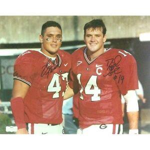 David Greene & David Pollack Autographed/Signed Georgia Bulldogs SEC 11x14 Photo