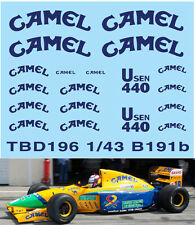 1/43  FORD SPONSOR DECALS FOR  BENETTON B191B 1992 DECALS TBDECAL TBD196