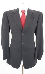 Giorgio Armani Anzug Gr.52 schwarz uni Einreiher 3-Knopf -C71