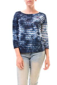 Us Heart Bcf77 £99 Women's 1 Size Striped Sundry 4 Sleeve Dye Tee Tie 3 Blue Rrp SgAUqFPw