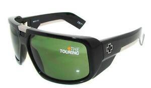 46dea7a0fad Image is loading SPY-OPTIC-Sunglasses-TOURING-Shiny-BLACK-GrayGreen-Lens-