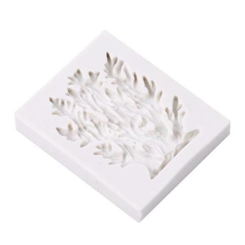 Silicone Seaweed Sea Weed Coral Shell Mould Mold Cake Fondant Sugarcraft AA