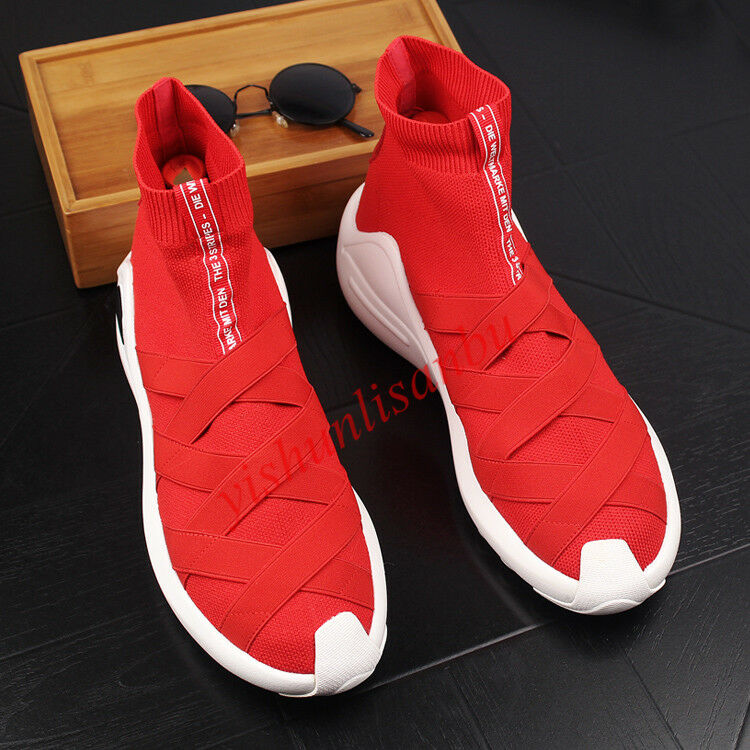 hommes Knit Sock Trainer breathable Sneaker Chaussures High Top Athletic Boot outdoor