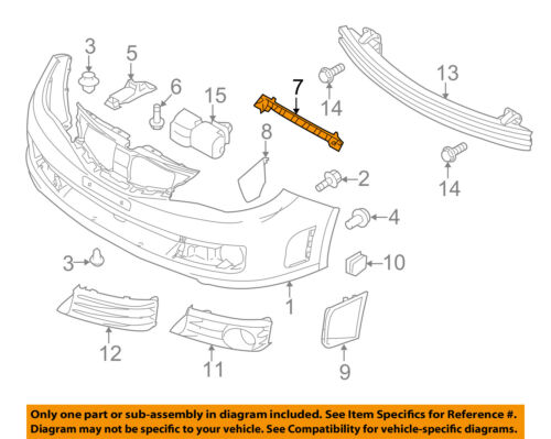 SUBARU OEM 08-14 Impreza Front Bumper-Retainer Bracket Left 57707FG132
