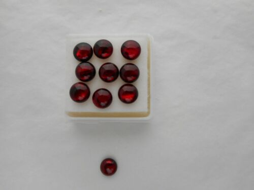 Abalone shell cabochon 4mm round cut red