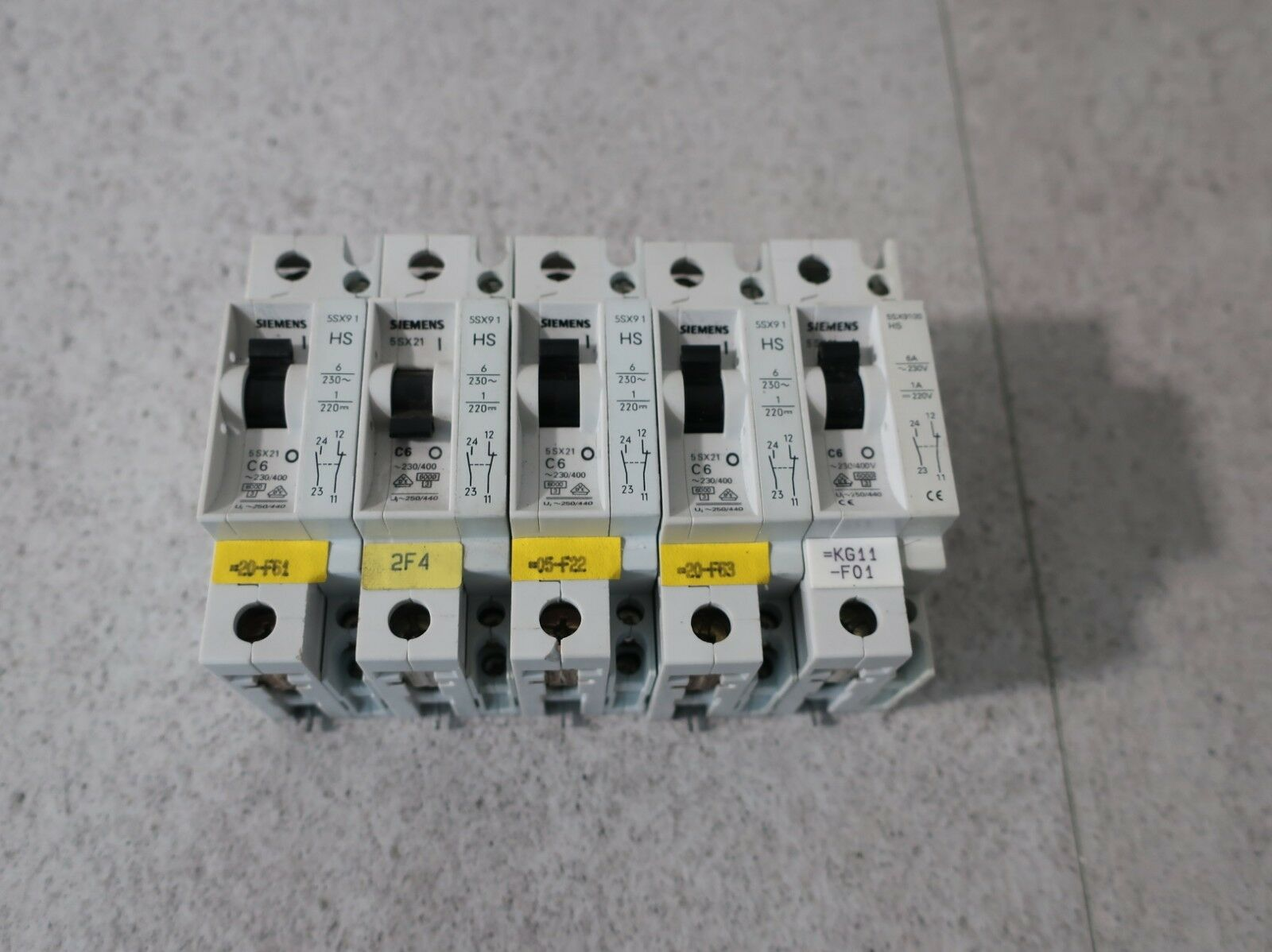 5 x Siemens 5sx21 C6  230 400+ Hs 5sx9100 6a 230