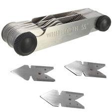 Screw thread pitch cutting gauge tool set 4pcs centre gage 55&60° Inch & Metric