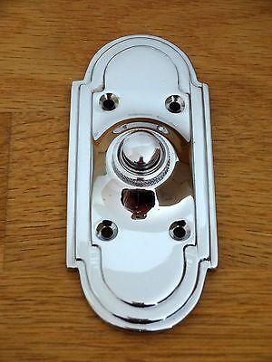 CHROME ART DECO STYLE DOOR BELL PUSH DOORBELL KNOCKER HANDLES KNOBS