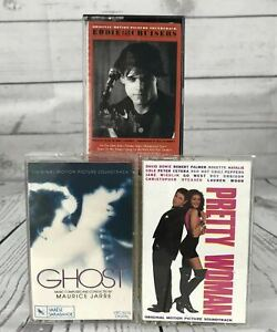 Soundtrack GHOST PRETTY WOMAN EDDIE and THE CRUISERS Vintage Cassette Tape x 3
