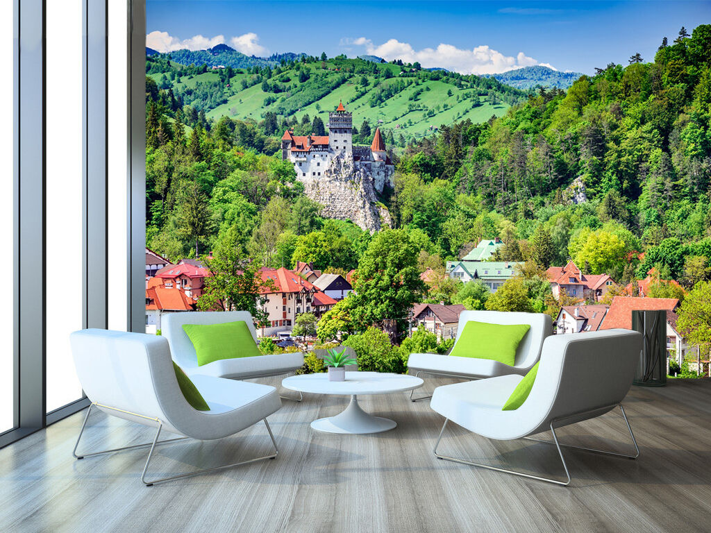 3D Hill Scenery Green Tree 756 Wall Paper Wall Print Decal Wall Deco Indoor Wall