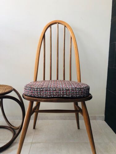 6 MyHome New Cushions For Ercol Chairs With Straps And Press Studs, Red / grey
