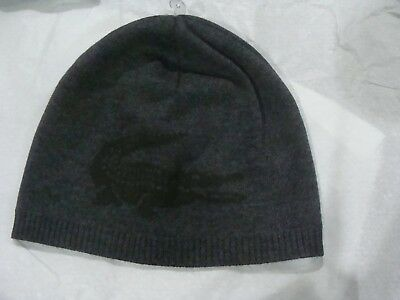 2399f066d8c Lacoste RB3531 51 LR9 Reversible Croc Extra Fine Merino Wool Beanie Size TU  ONE
