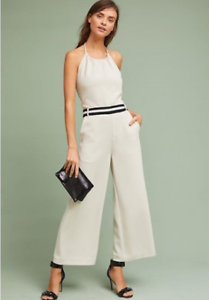 NWT  Anthropologie LAVEER NEWPORT JUMPSUIT IVORY Large  320