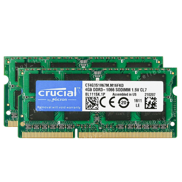 "8GB 2X4GB Memory Apple MacBook 13/"" MacBook6,1"