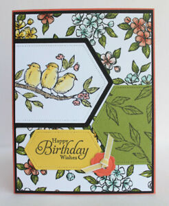 Handmade-HAPPY-BIRTHDAY-WISHES-card-kit-of-4-made-w-Stampin-Up