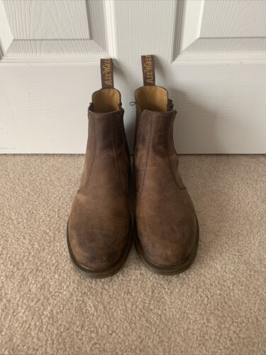 Doc Martins CRAZY HORSE LEATHER CHELSEA BOOTS Size