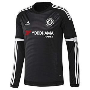 c1b2e575fa La imagen se está cargando Adidas-Chelsea-FC-Manga-Larga-Tercera-Camiseta- 2015-